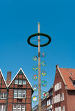 Maypole in Munster, Germany Stock Photos