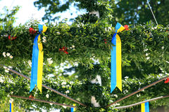 Maypole sueco Fotografia de Stock
