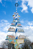 Maypole at Victuals Market Munich Stock Photos