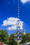 Maypole on Viktualienmarkt, Munich, Bavaria, Germany Stock Image
