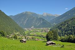 Mayrhofen, долина Zillertal, Tirol, Австралия Стоковая Фотография RF