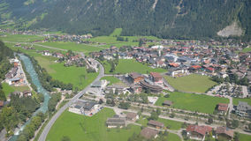 Mayrhofen, Austria  - arial view. Royalty Free Stock Image