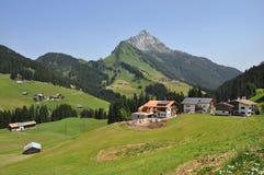 Mayrhofen in de Ziller-riviervallei Tirol oostenrijk Royalty-vrije Stock Foto