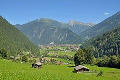 Mayrhofen Zillertal dal, Tirol, Österrike Royaltyfri Fotografi