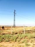 Mayskiy gräns mellan Uzbekistan och Kasakhstan September 2007 Royaltyfria Bilder