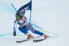 MAYTAKOV Sergei (RUS). Alta Badia, ITALY 22 December 2013. MAYTAKOV Sergei (RUS) competing in the Audi FIS Alpine Skiing World Cup MEN'S GIANT SLALOM Royalty Free Stock Photography