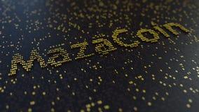 MazaCoinwoord van gouden aantallen wordt gemaakt dat het 3d teruggeven Stock Foto