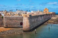 Mazagan,杰迪代,摩洛哥鸟瞰图  图库摄影