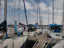 Mazagon de rivière de mer de bateaux Photo stock