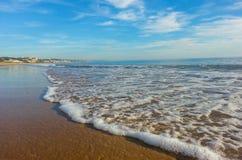 Mazagon strand Huelva Spanien royaltyfri foto