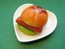 Mazapán de la hamburguesa. Fotos de archivo