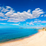Mazarron beach in Murcia Spain at Mediterranean Royalty Free Stock Images