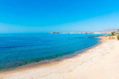 Mazarron beach in Murcia Spain at Mediterranean Royalty Free Stock Image