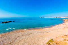 Mazarron beach in Murcia Spain at Mediterranean Stock Photos
