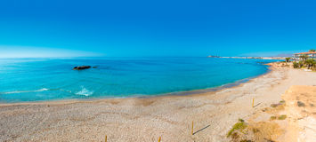 Mazarron beach in Murcia Spain at Mediterranean Stock Image