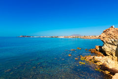 Mazarron beach in Murcia Spain at Mediterranean Royalty Free Stock Photography
