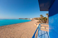 Mazarron beach in Murcia Spain at Mediterranean Stock Photography