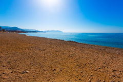 Mazarron beach in Murcia Spain at Mediterranean Stock Photo