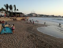 Mazatlan Beach at Noon stock image