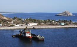 Mazatlan Shore. The long endless shore of Mazatlan city, Mexico Royalty Free Stock Images