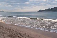 Mazatlan Solitude. Pacific Ocean waves at morning's first light royalty free stock photos