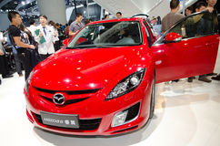 Mazda 6 car on display Royalty Free Stock Images