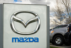 Mazda Autobile Dealership Royalty Free Stock Photo