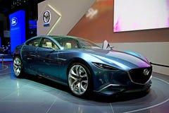 Mazda begreppsförtitt på den 81st internationella motoriska showen Arkivfoto
