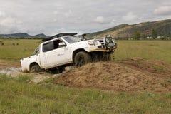 Mazda bianco BT-50 4x4 3L Fotografie Stock Libere da Diritti