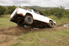 Mazda bianco BT-50 4x4 3L Fotografia Stock