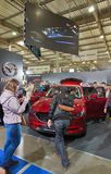 Mazda booth during CEE 2017 in Kiev, Ukraine. Stock Image