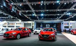 Mazda-Cabine bij de Internationale Motor Expo 2016 van Thailand Stock Foto