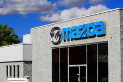 Mazda Car Dealership Stock Photo