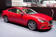 Mazda 6 car. GENEVA, SWITZERLAND - MARCH 3, 2015: Mazda 6 car shown at the 85th International Geneva Motor Show in Palexpo, Geneva Royalty Free Stock Image