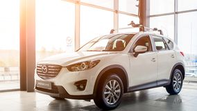 Mazda CX5 , side view stock image