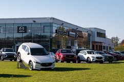 Mazda dealer Kodecar in Ostrava, Czech Republic showing its newest model, CX-5 SUV stock images
