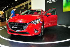 Mazda2 display during the Singapore Motorshow 2016 Royalty Free Stock Image