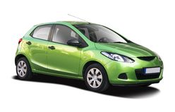 Mazda 2 isolated on white Royalty Free Stock Images