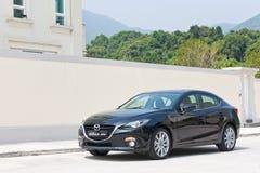 Mazda3 JDM日本版本2014实验驾驶 免版税库存图片