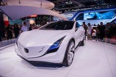 Mazda Kazamai pojęcia samochód przedstawiający na Tel Aviv Motorowym przedstawieniu zdjęcie royalty free