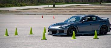 Mazda laufendes schnelles Autocross Lizenzfreie Stockfotos