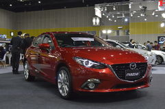 Mazda 3 miasta samochód Zdjęcia Stock
