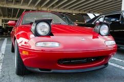 Mazda Miata alle automobili ed al caffè di Richmond Immagine Stock