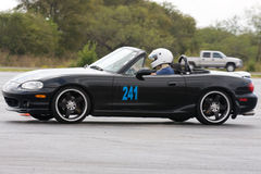Mazda Miata At Autocross royalty free stock photography