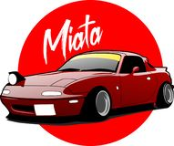 Free Mazda Miata MX-5 Vector Royalty Free Stock Photos - 157809568
