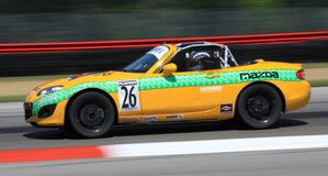 Mazda Miata MX5 racing Royalty Free Stock Photography