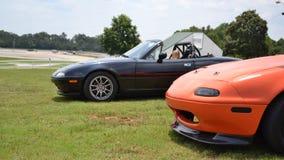 2 Mazda Miatas Royalty Free Stock Photos