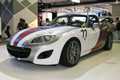 MAZDA MX-5 Open Race. At the Moscow International Automobile Salon (MIAS-2010) August 25 - September 5 Royalty Free Stock Photography