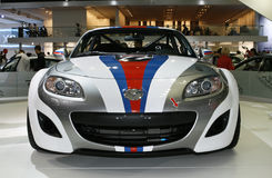 MAZDA MX-5 Open Race. At the Moscow International Automobile Salon (MIAS-2010) August 25 - September 5 Stock Image