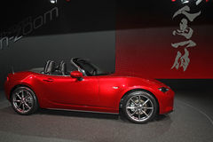 Mazda MX-5 at auto show Stock Photo